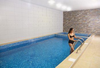 Большой плавательный бассейн, женское отделение, 1 этаж, Баня С легким паром.