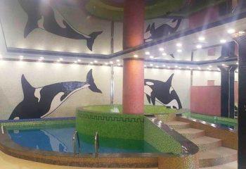 Плавательный бассейн, мужское отделение, 1 этаж, Баня С легким паром.