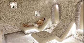 Турецкий Хаммам, мужское отделение, кабина с лежанками+, 2 этаж, Баня С легким паром