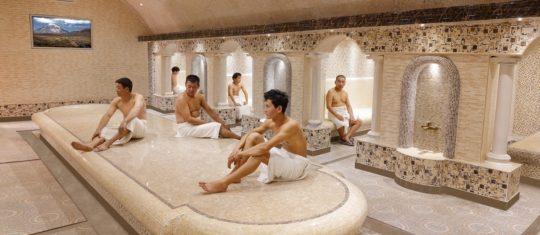 Турецкий Хаммам, мужское отделение, общий зал с гостями, 2 этаж, Баня С легким паром