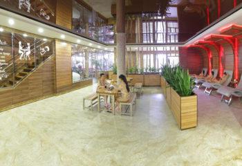 Холл в помывочной зоне, Женский банный VIP-клуб при SPA-комплексе С легким паром!