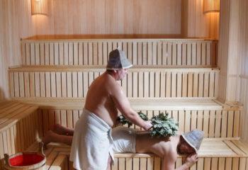 Парение, Мужской банный VIP - клуб, 4 этаж, Баня С легким паром!