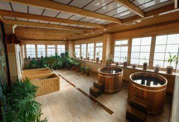 Японская баня Офуро, Фурако, Мужской банный VIP-клуб, 4 этаж, Баня С легким паром!