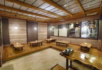 Японская чайная комната, Мужской банный VIP-клуб, 4 этаж, Баня С легким паром!